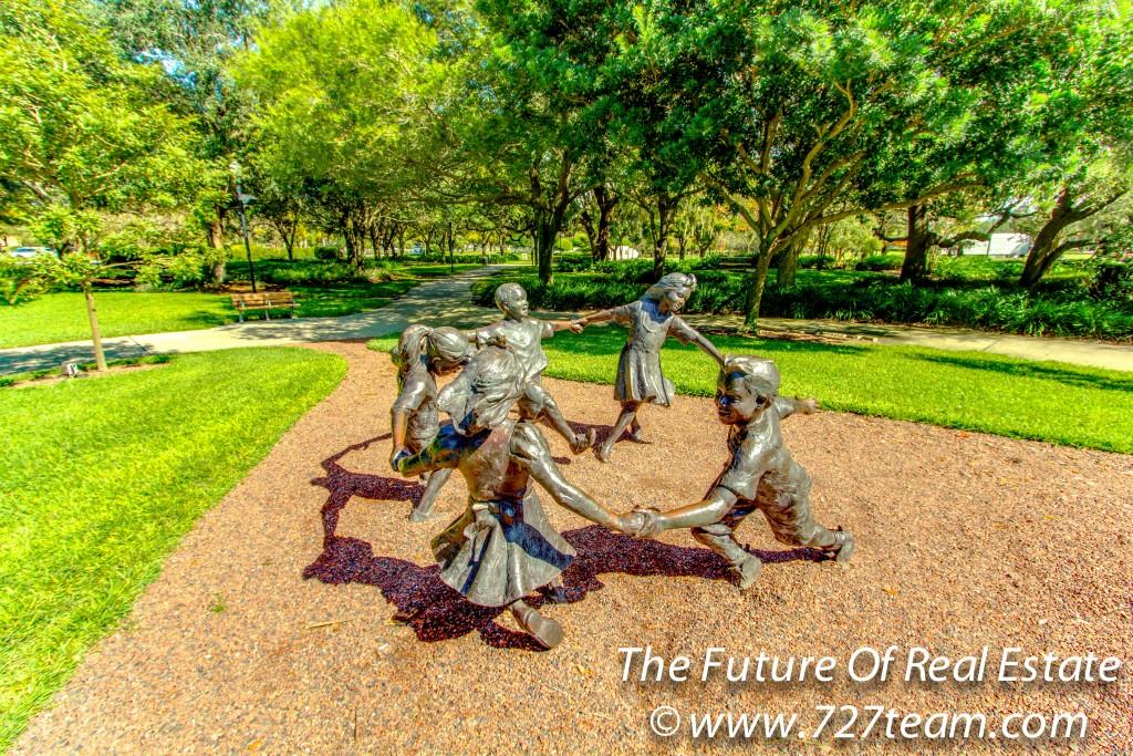 Children Statue In Largo Central Park