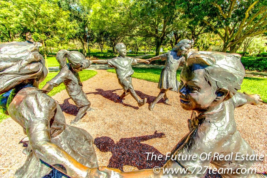 Largo Central Park Children Statue