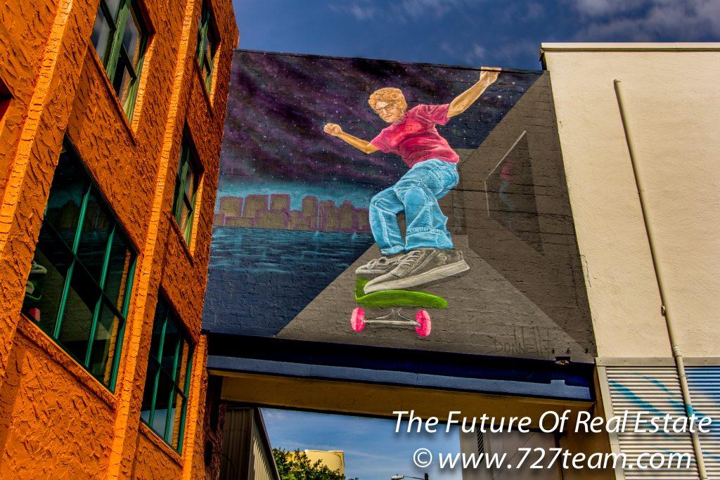 Skateboarding Grandma St Petersburg Street Art