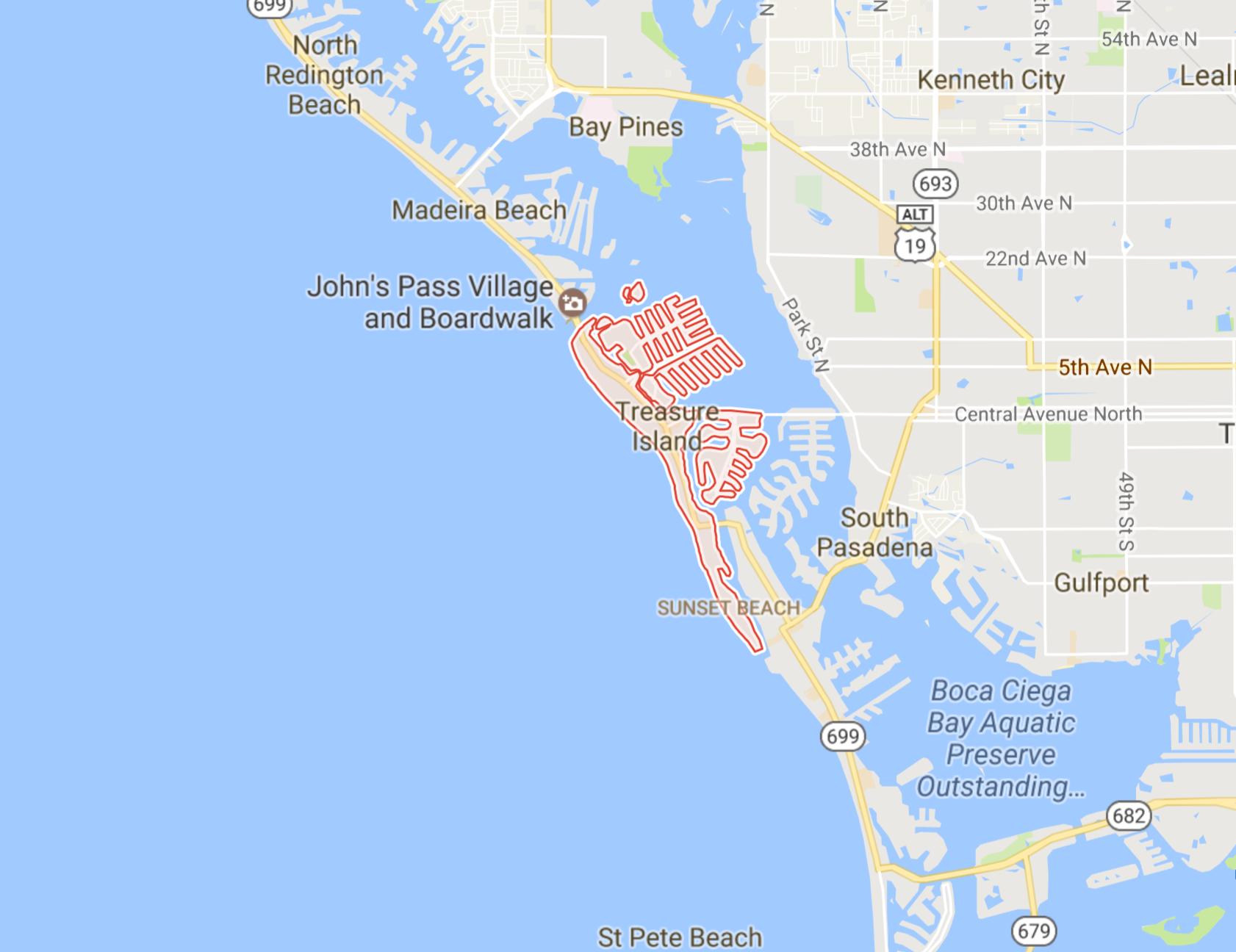Treasure Island Neighborhoods The  Team - Florida map madeira beach