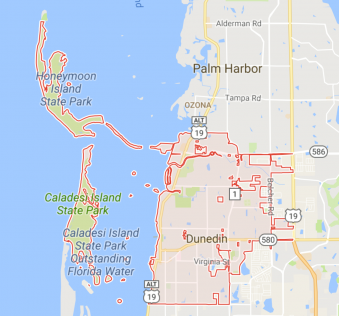 Map Of Dunedin Florida.The 727 Team Dunedin Neighborhoods The 727 Team