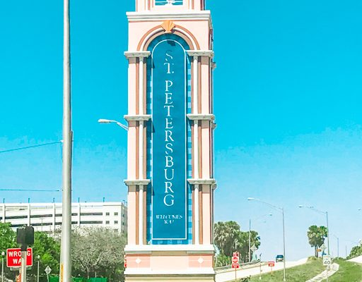 Sign for St Pete