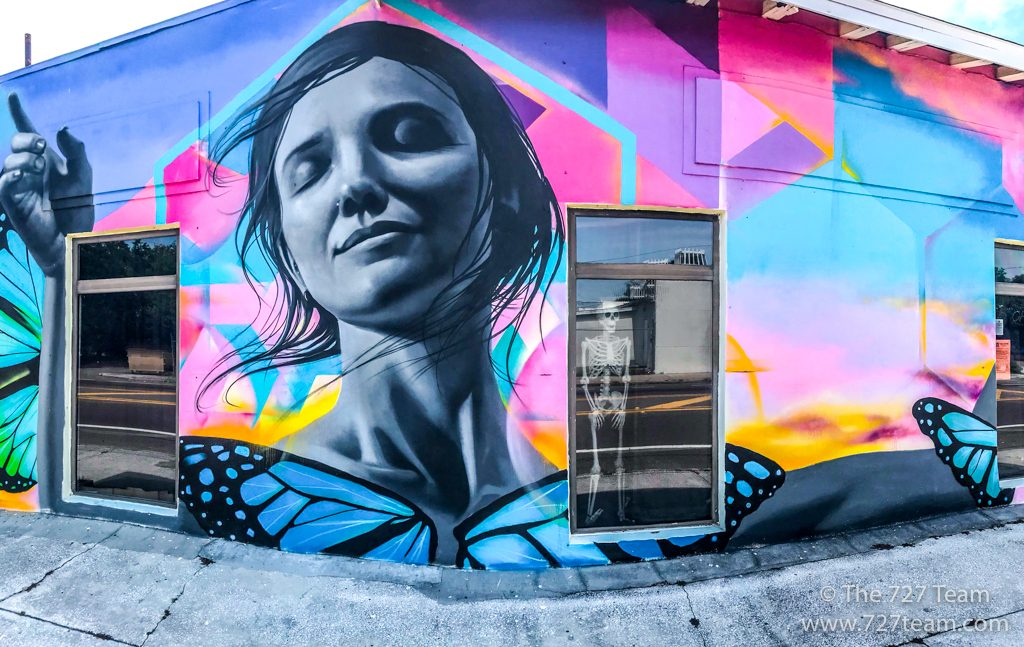 warehouse arts district mural
